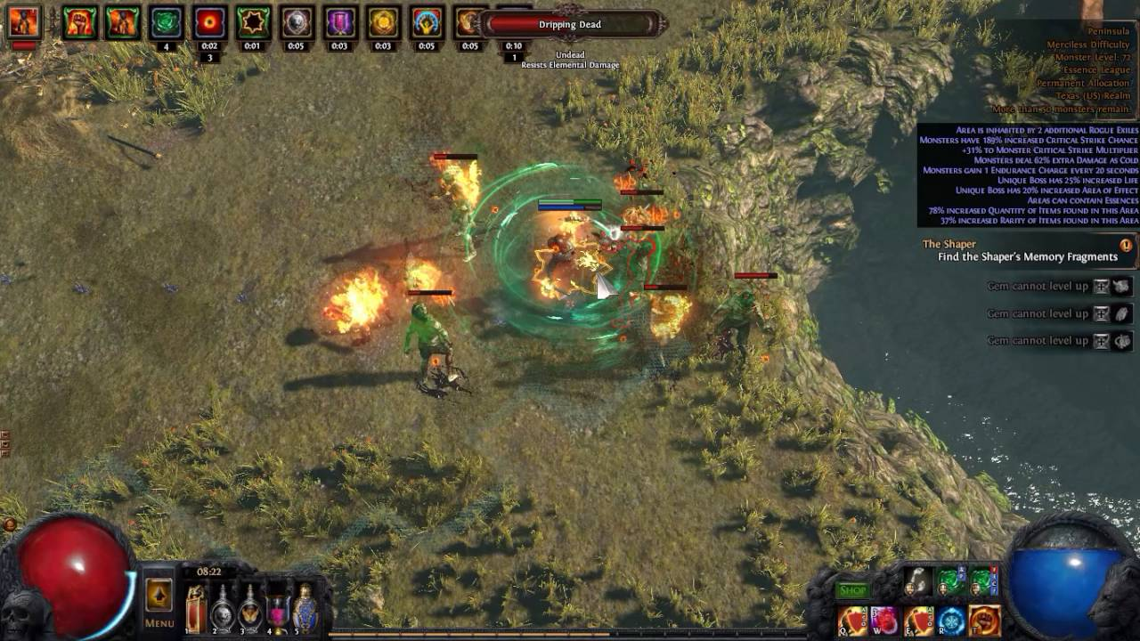 Path of Exile - Peninsula Map Tier 5 - BladeVortex Build