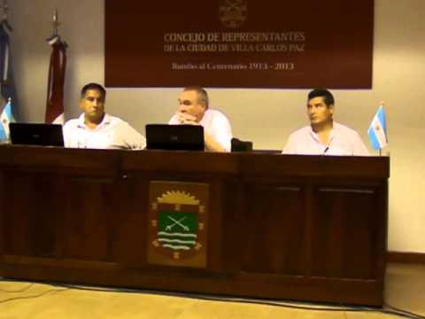 Sesión 27 diciembre 2013 Concejo Representantes Carlos Paz - Tema: subsidio a Instituto Mariette Ly
