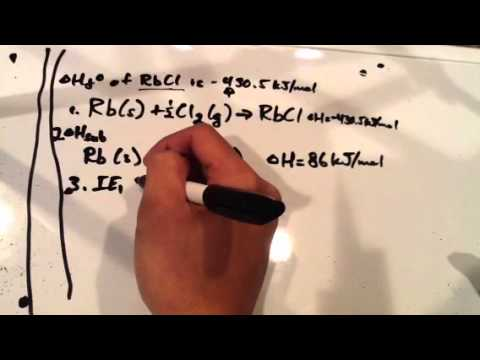 Chemistry 161 Born Haber Cycle Example Problem Part 1 Youtube