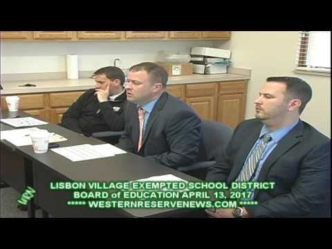 LISBON EXEMPTED SCHOOL PRINCIPLES APRIL 2017 BOARD OF EDUCATION MEETING