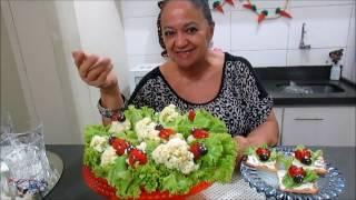 regina ensina salada decorada com joaninhas