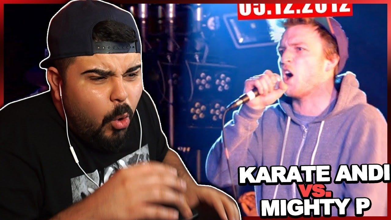 WTF!! ABSOLUTE ZERSTÖRUNG!! ?? KARATE ANDI VS MIGHTY P bei RAP am MITTWOCH | REACTION