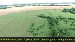 SOLD!  Cassoday Kansas Land, House, Creek, Timber, & Personal Property For Sale