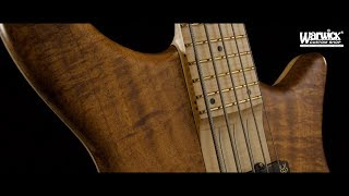 """Warwick Custom Shop Masterbuilt - Katana NT - 5-String - Nico Selection - 1"""" AAAA Koa Top #17-3421"""