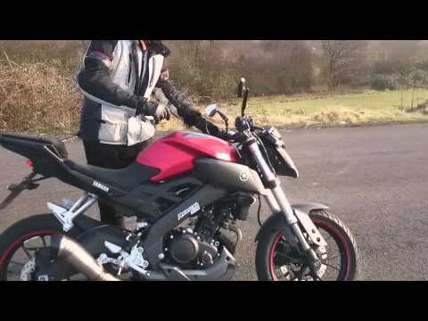 video clip hay yamaha mt 125 red radical racing sound fly. Black Bedroom Furniture Sets. Home Design Ideas