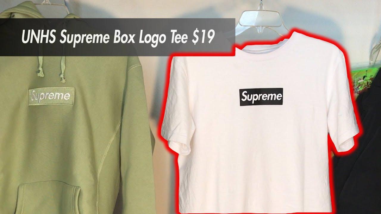 818c99270d19 UNHS SUPREME BOX LOGO TEE REVIEW! (perfect replica?) - YouTube