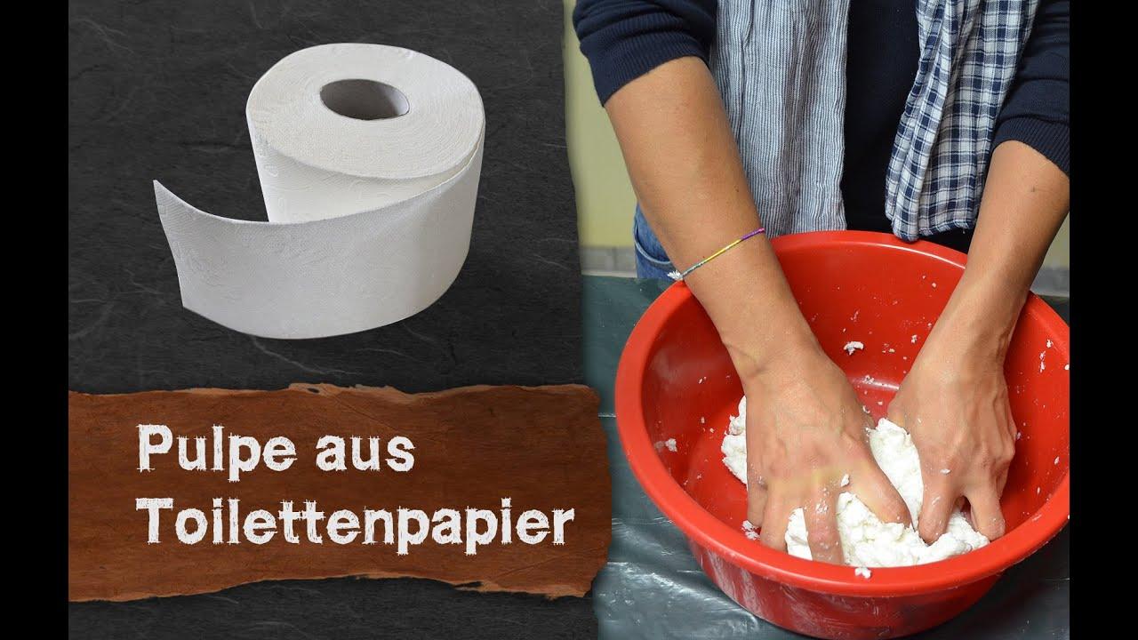 Papier Selber Machen pulpe pappmaché aus toilettenpapier selber machen