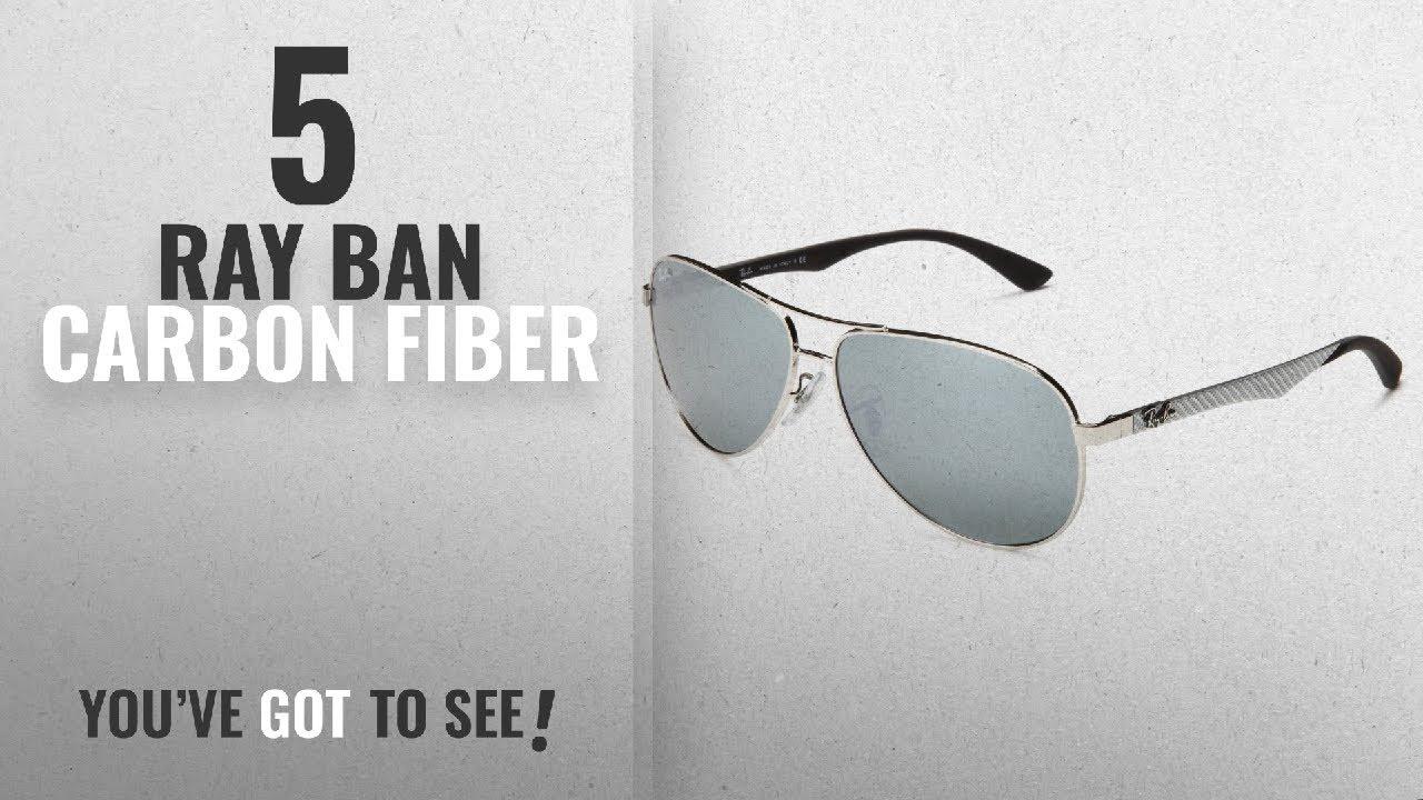 Top 10 Ray Ban Carbon Fiber   Winter 2018    Ray-Ban CARBON FIBRE - SILVER  Frame CRYSTAL GREY MIRROR 5f78bfc661cf