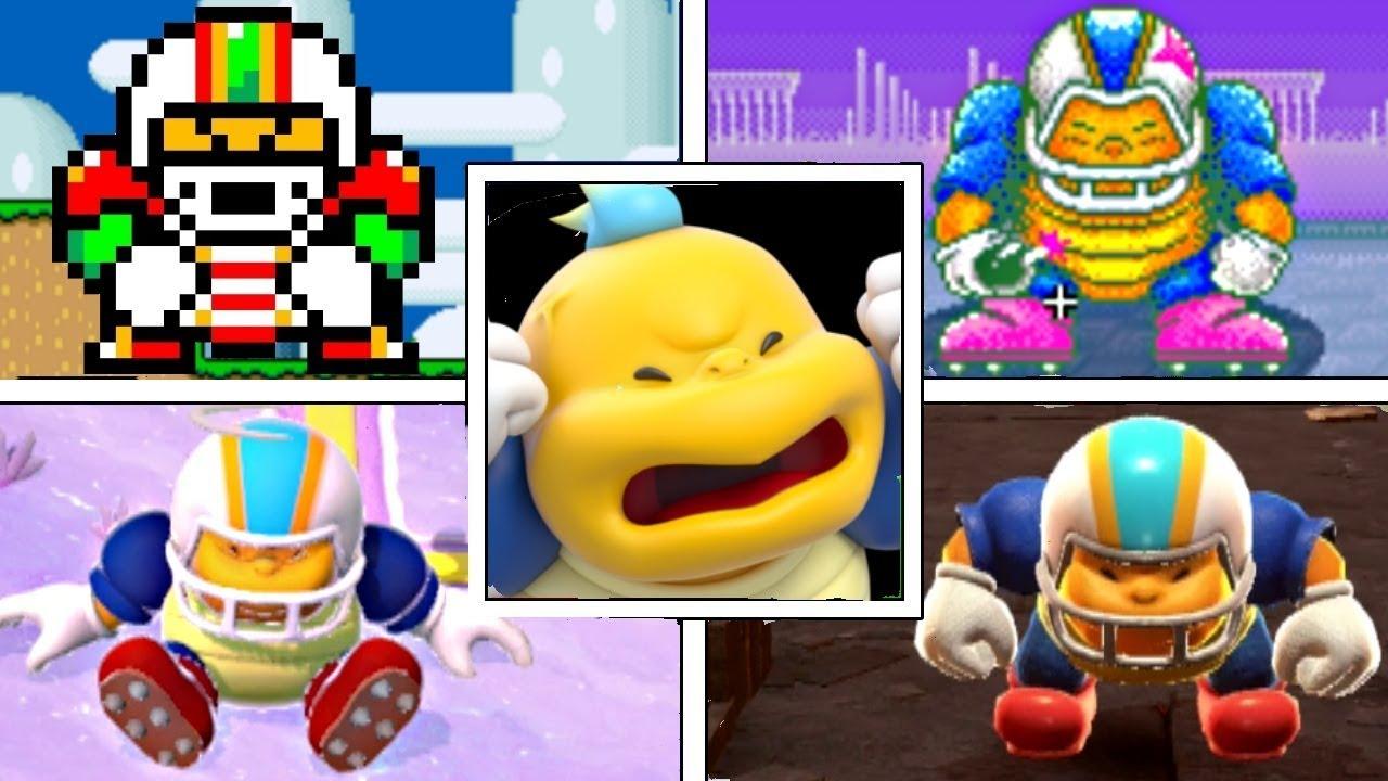 Evolution Of Chargin' Chuck In Super Mario Series (1990