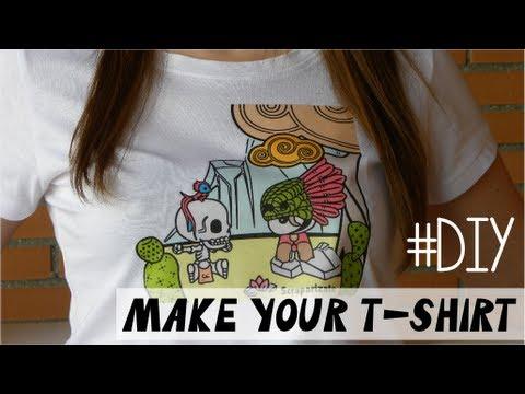 Diy make your own t shirt dise a tu camiseta youtube for Make your own t shirt with photo