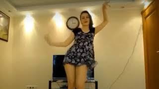 Upskirt dance by beautiful lady mom dance upskirt sexy legs showing.