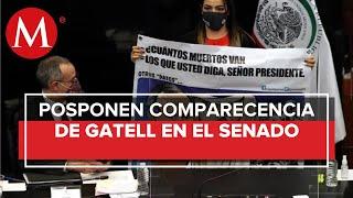 Suspenden comparecencia de López-Gatell en el Senado ante protestas de oposición