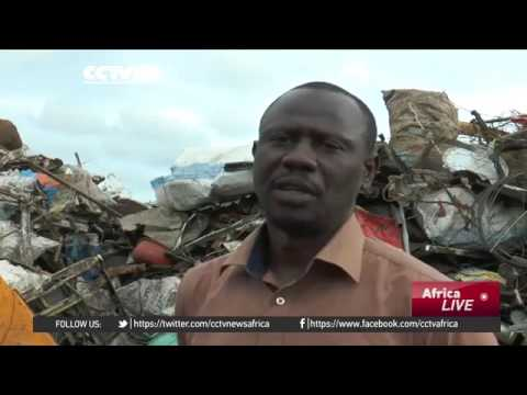 14978 economics CCTV Afrique Gabon recycling steel industry creates jobs for unemployed youth