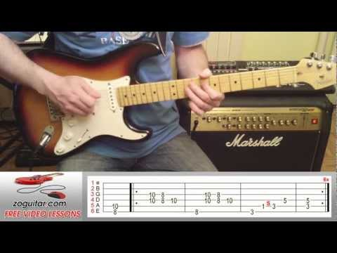 How To Play Sharp Dressed Man By ZZ Top On Guitar (intro Riff + TAB)