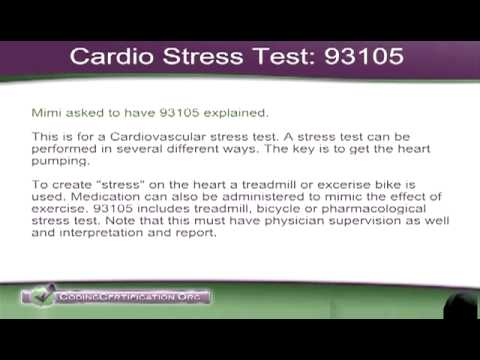 Medical Coding Help Cardio Stress Test Cpt Code 93015 Youtube