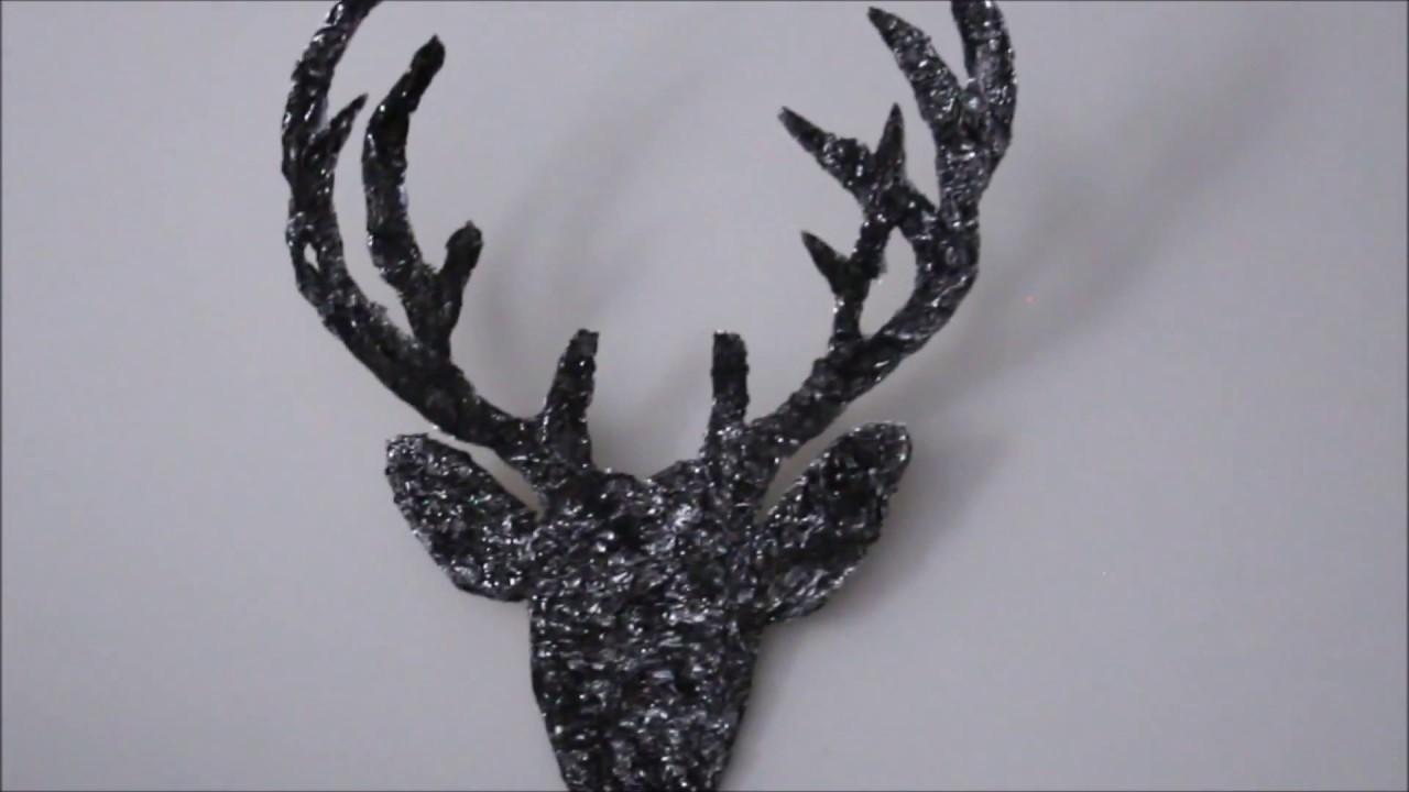 How to make deer head with cardboard diy easy vintage like wall how to make deer head with cardboard diy easy vintage like wall decor tutorial amipublicfo Choice Image