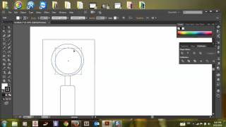 How to draw magnifier in Illustrator
