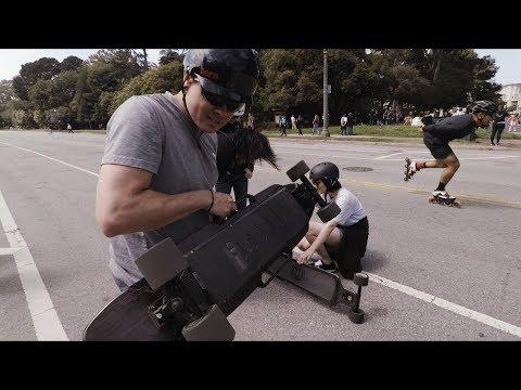 Raptor 2 in San Francisco - Enertion Electric Skateboard Demo Event