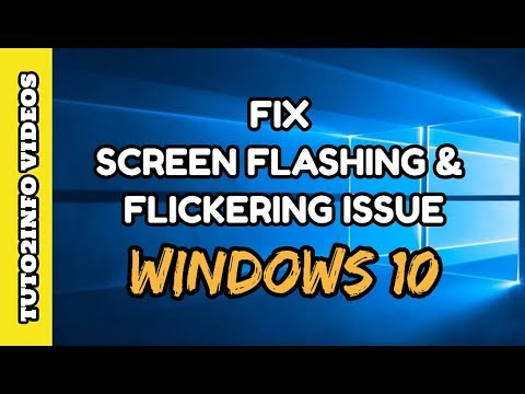 how to fix windows 10 screen flashing and flickering screen issue quick really easy youtube. Black Bedroom Furniture Sets. Home Design Ideas