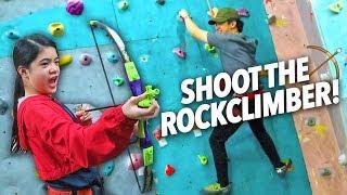 Shoot The Rock Climber (Stuck on Top Prank) | Ranz and Niana