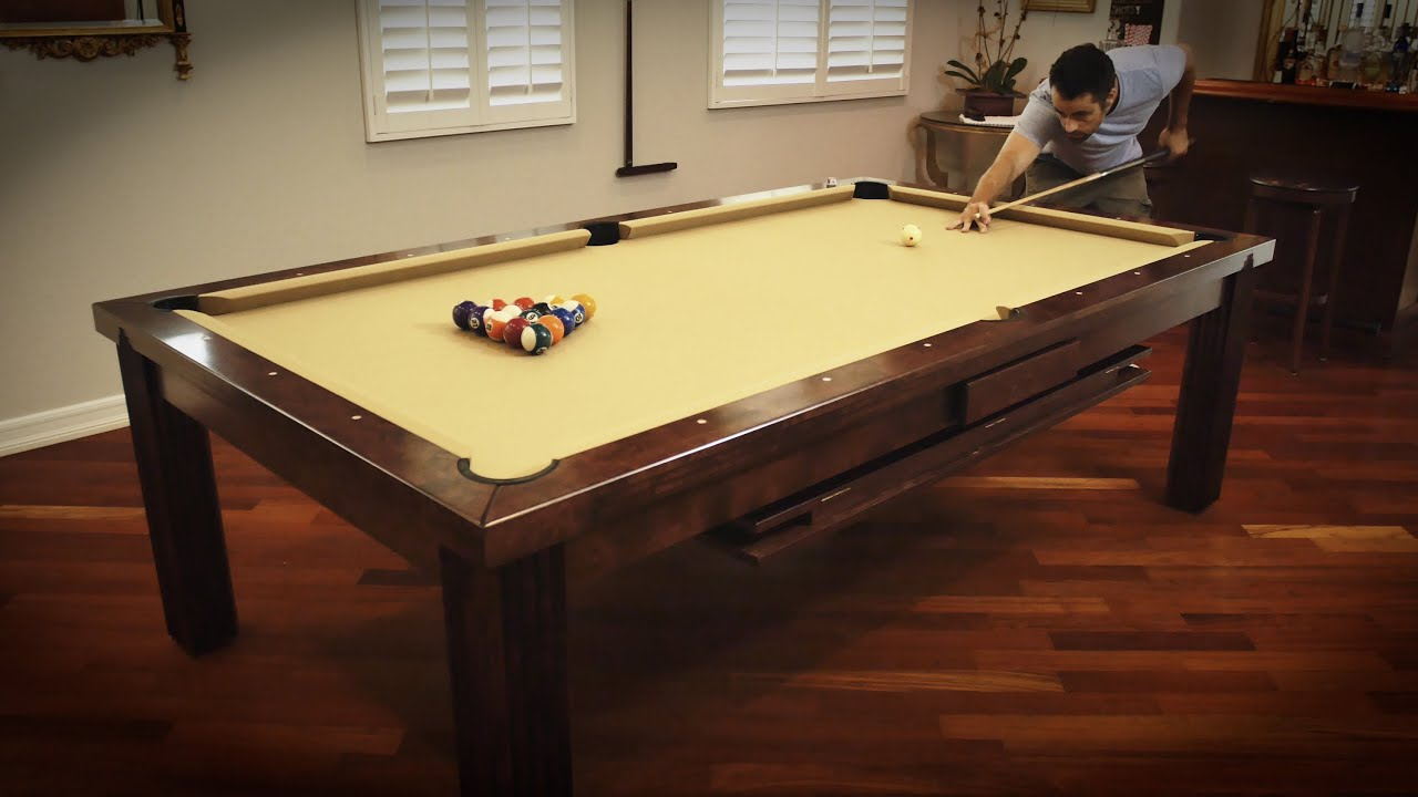 Vision Billiards Toledo Dining Billiard Table Review YouTube