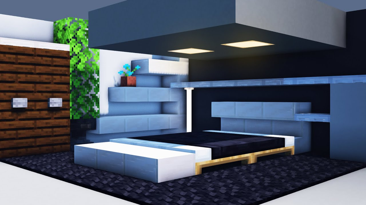 how to build a modern bedroom in minecraft modern house 12499 | maxresdefault