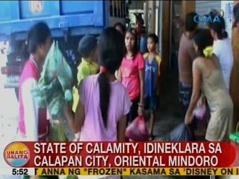 UB: State of calamity, idineklara sa Calapan City, Oriental Mindoro