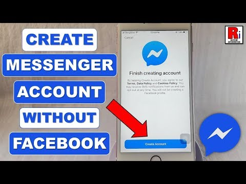 CREATE MESSENGER ACCOUNT WITHOUT FACEBOOK ACCOUNT