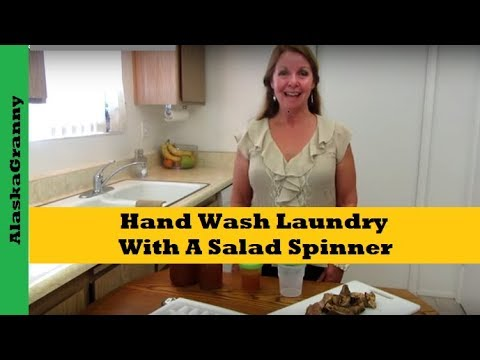 Hand Wash Laundry With A Salad Spinner