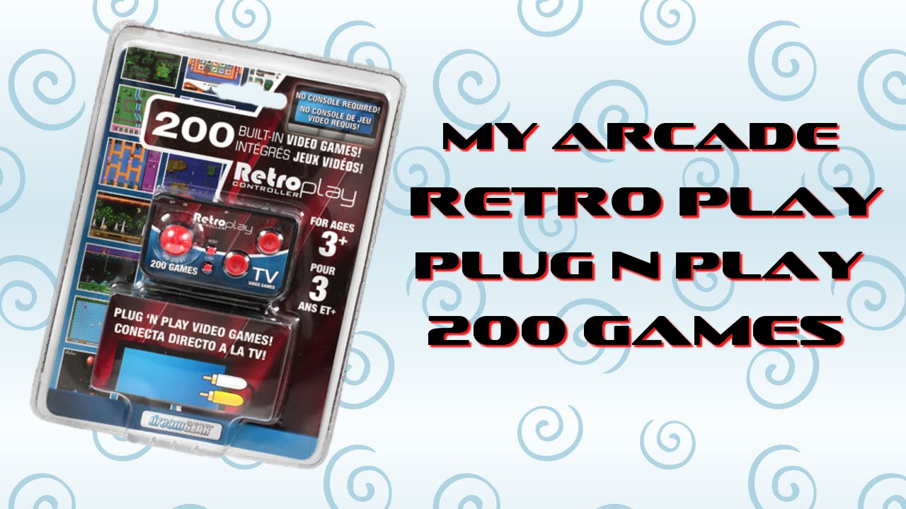 Retro Play Controller 200 Built-in Video Games Plug N Play No Console Required