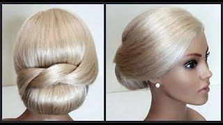Красивые прически.Быстрая легкая прическа пучок.Подробное видео.Quick easy hairstyle.Detailed video.
