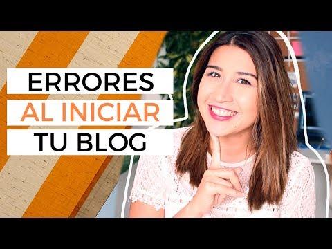 Errores que deberías evitar al crear un blog