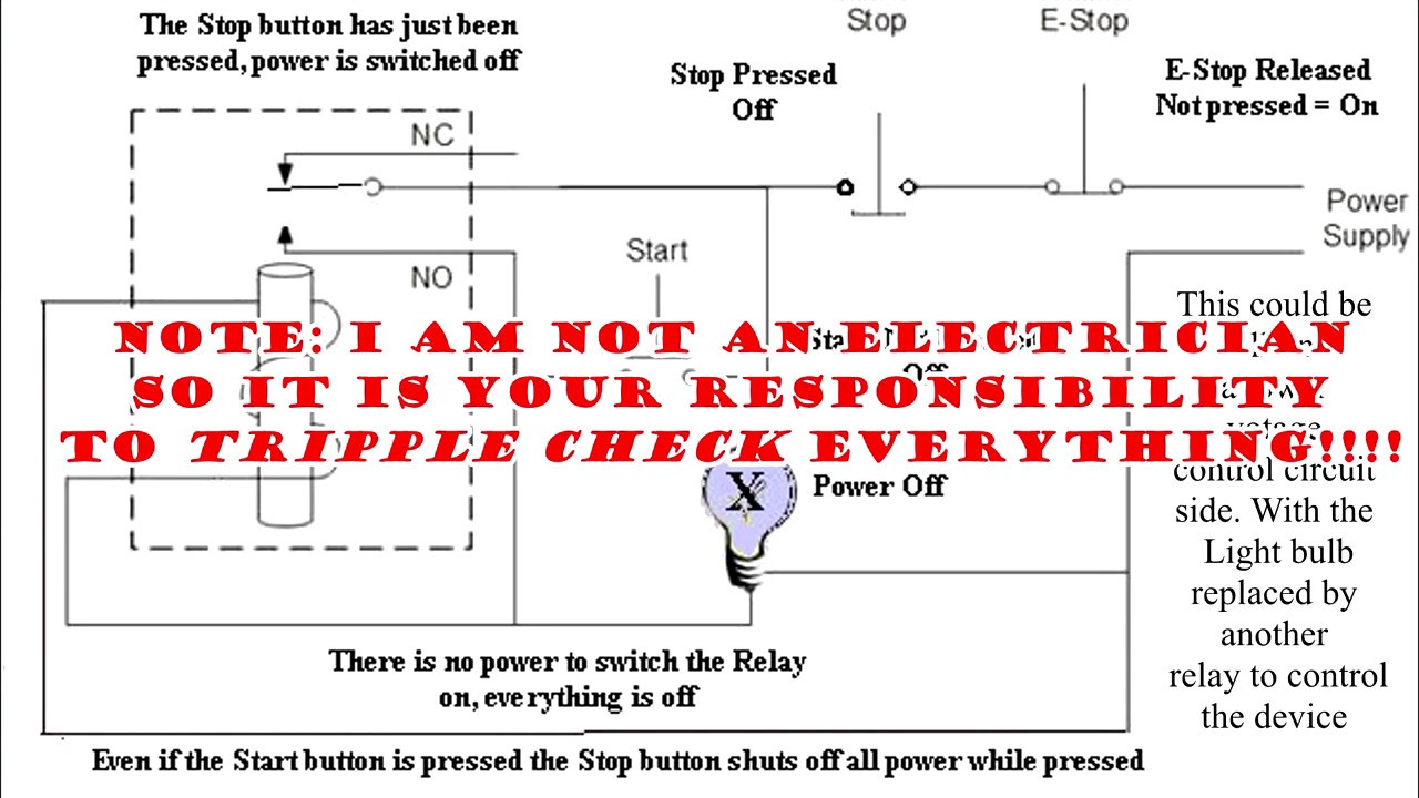 Emergency Stop Relay Wiring Diagram Double Auto Electrical Bolens G194 Circuit
