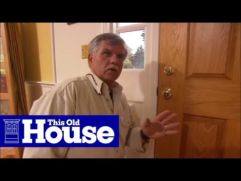 How To Weatherstrip A Wood Door This Old House Youtube