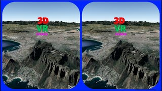 Table Mountain  3d Vr Video Stereogram Magic Eye Video Tour With Google Earth