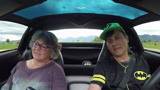 corvettes and cars mom reacts first ride in my corvette the batmobile