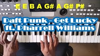 Daft Punk - Get Lucky - Easy Piano Tutorial - ft. Pharrell Williams