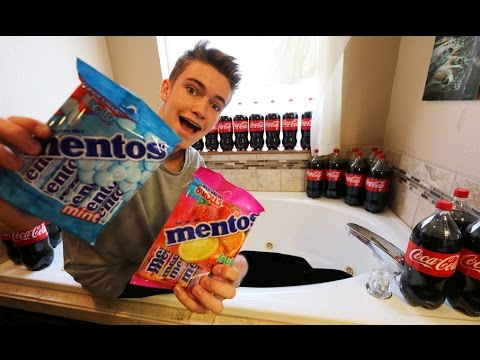 Thumbnail: COKE VS MENTOS BATH CHALLENGE!