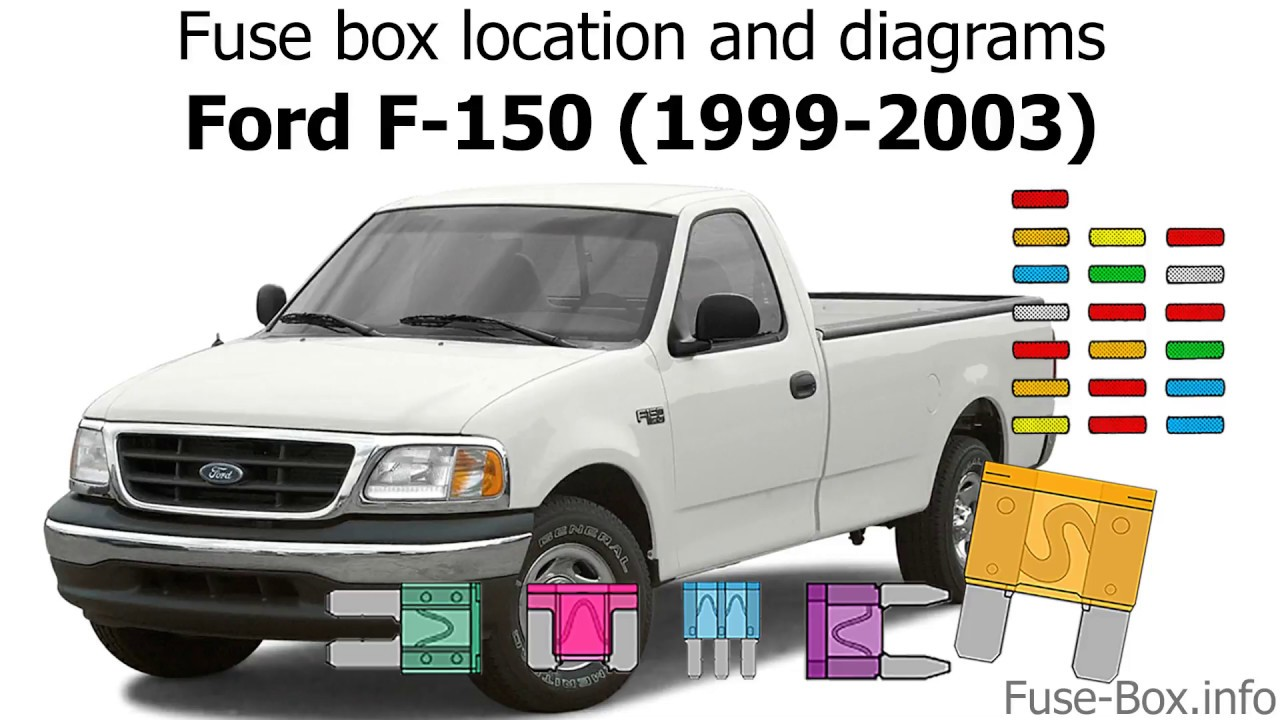 Fuse box location and diagrams: Ford F-150 (1999-2003)  F Fuse Box on