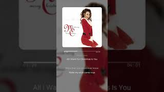 All I Want For Christmas Is You - Mariah Carey | 가사 (Lyrics)