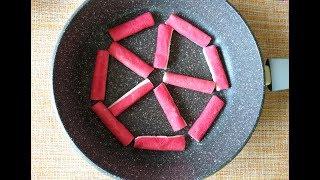 Интересный,вкусный салат с жареными крабовыми палочками!!!