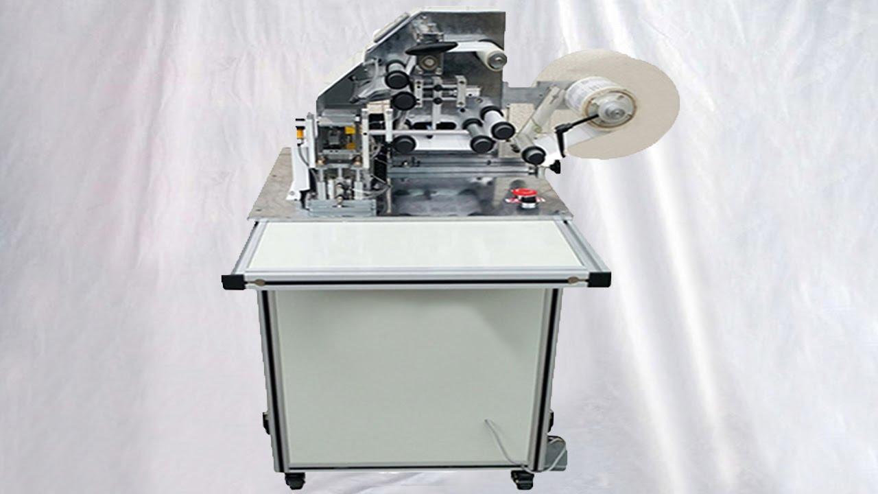 Semi automatic wire cable folding labeling machine high precision ...