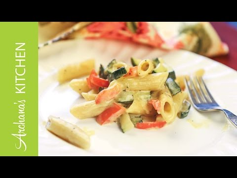 Penne Pasta In Alfredo Sauce By Archana's Kitchen