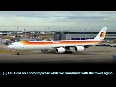 Iberia A340-600 arguing with costa rican ATC [English subs]