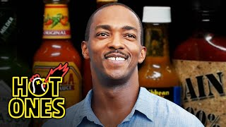 Anthony Mackie Quotes Shakespeare While Eating Spicy Wings | Hot Ones