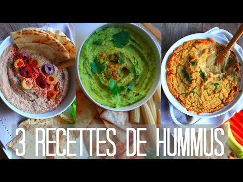 hummus-|-3-recettes-sans-huile-&-vegan