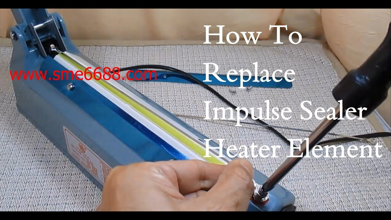 Disassemble impulse sealer replace heater element wire telfon belt - YouTubeYouTube