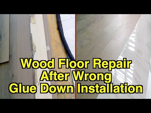 Hardwood Floor Repair After Wrong Glue Down Installation How To