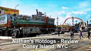 Nathan's Hot Dogs - Review - Coney Island, NYC