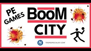PE Games: Boom City |Throwing and Catching Skills|